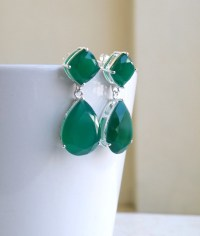 Angelina jolie emerald earrings  Etsy UK