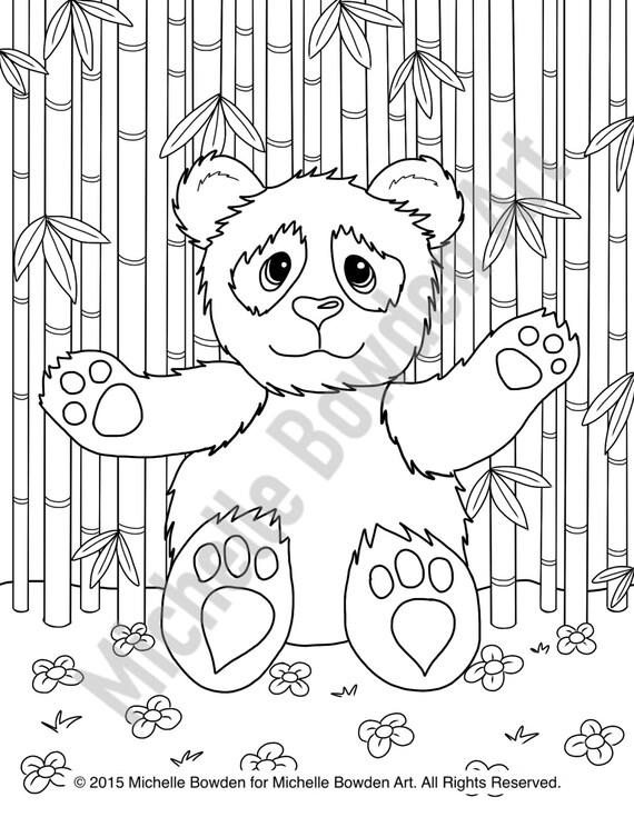Coloring Page Printable Panda Teddy Bear Hugs