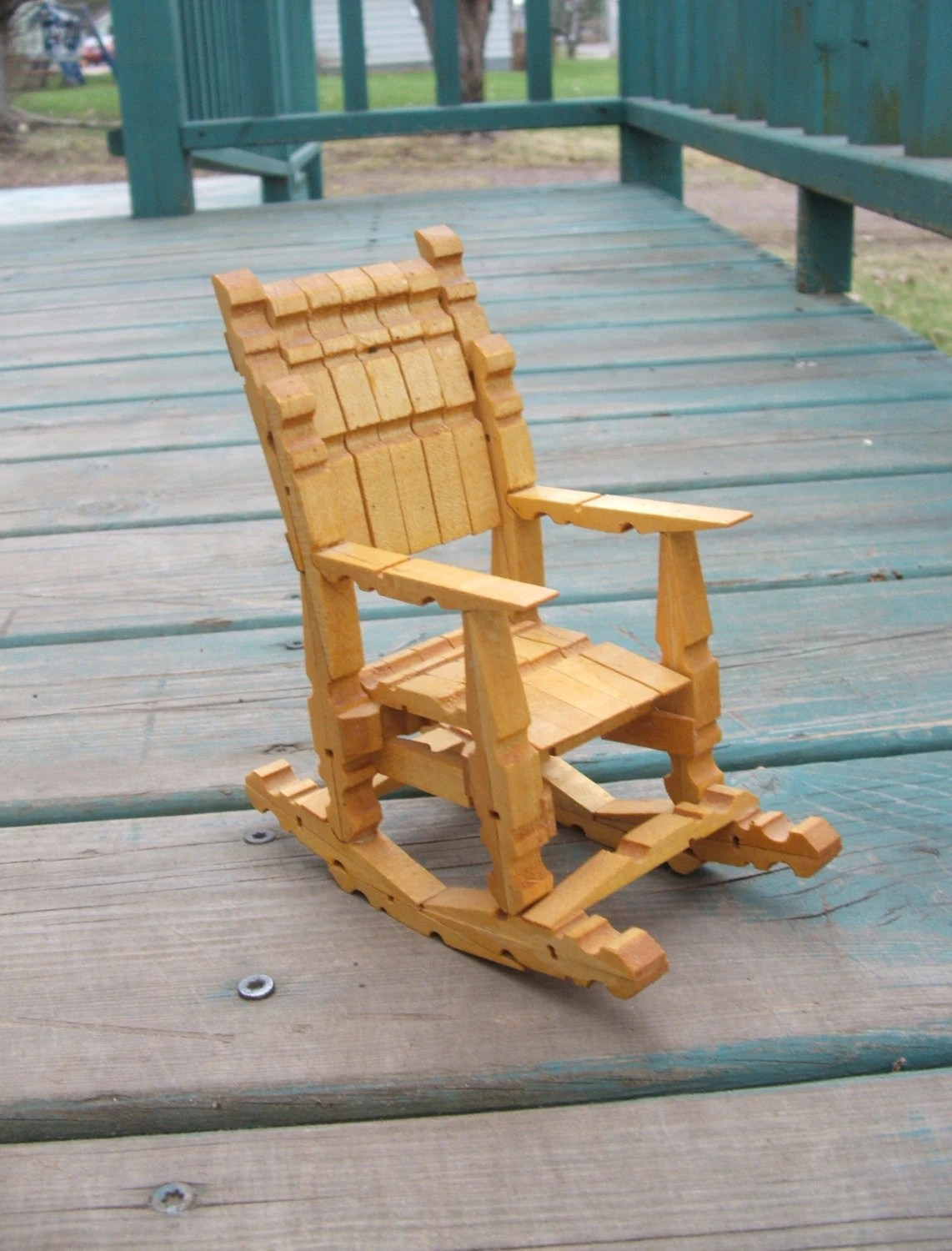 how to make a rocking chair georgia company vintage wooden clothespin doll tramp folk art