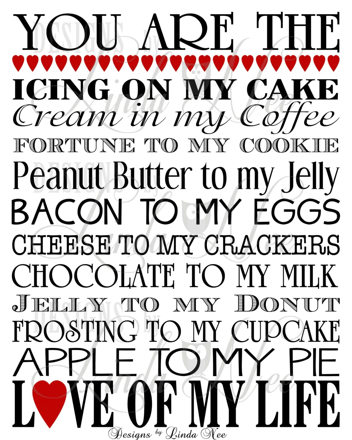 Printable You Are The Bacon To My Eggs Cream In My Coffee