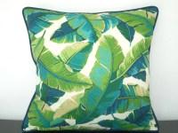 Tropical outdoor pillow case 18x18 green outdoor by anitascasa