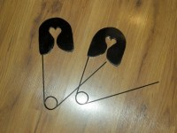 Giant Safety Pins Medium for wall decor sewing or craft