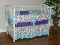 purple and gray baby bedding baby bedding grey aqua jewell ...