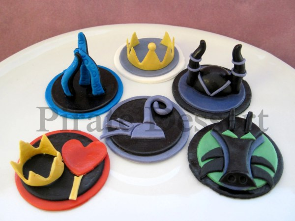 Female Disney Villains Edible Cupcake Toppers