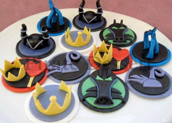 Edible Cupcake Toppers Female Disney Villains