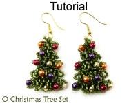 Beading Tutorial Pattern Earrings Necklace Christmas Tree
