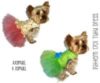 Tutu Dog Dress Pattern 1701 XXSmall & XSmall Dog Clothes