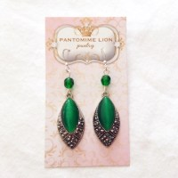 Items similar to Marquise Emerald Earrings on Etsy