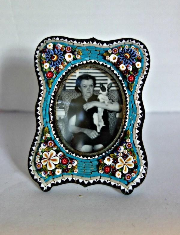 Antique Micro Mosaic Frame