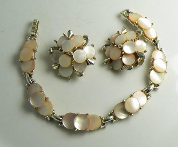 Vintage 1950' Marhill Mother Of Pearl Bracelet