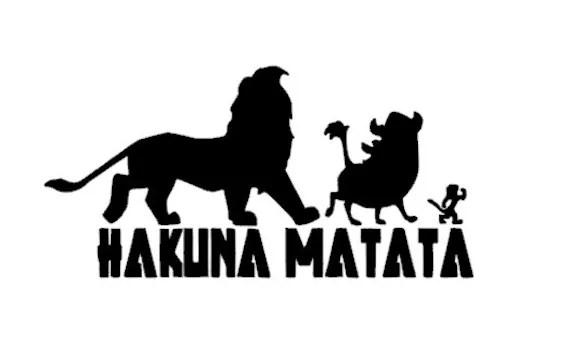 SALE Disney Hakuna Matata Lion King Decal by BackRoadShop