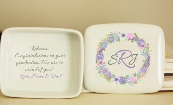 Ceramic Jewelry Box Personalized