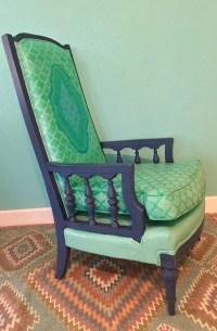 Bohemian Mermaid Chair Painted Leather Chair by BohoBeachBliss