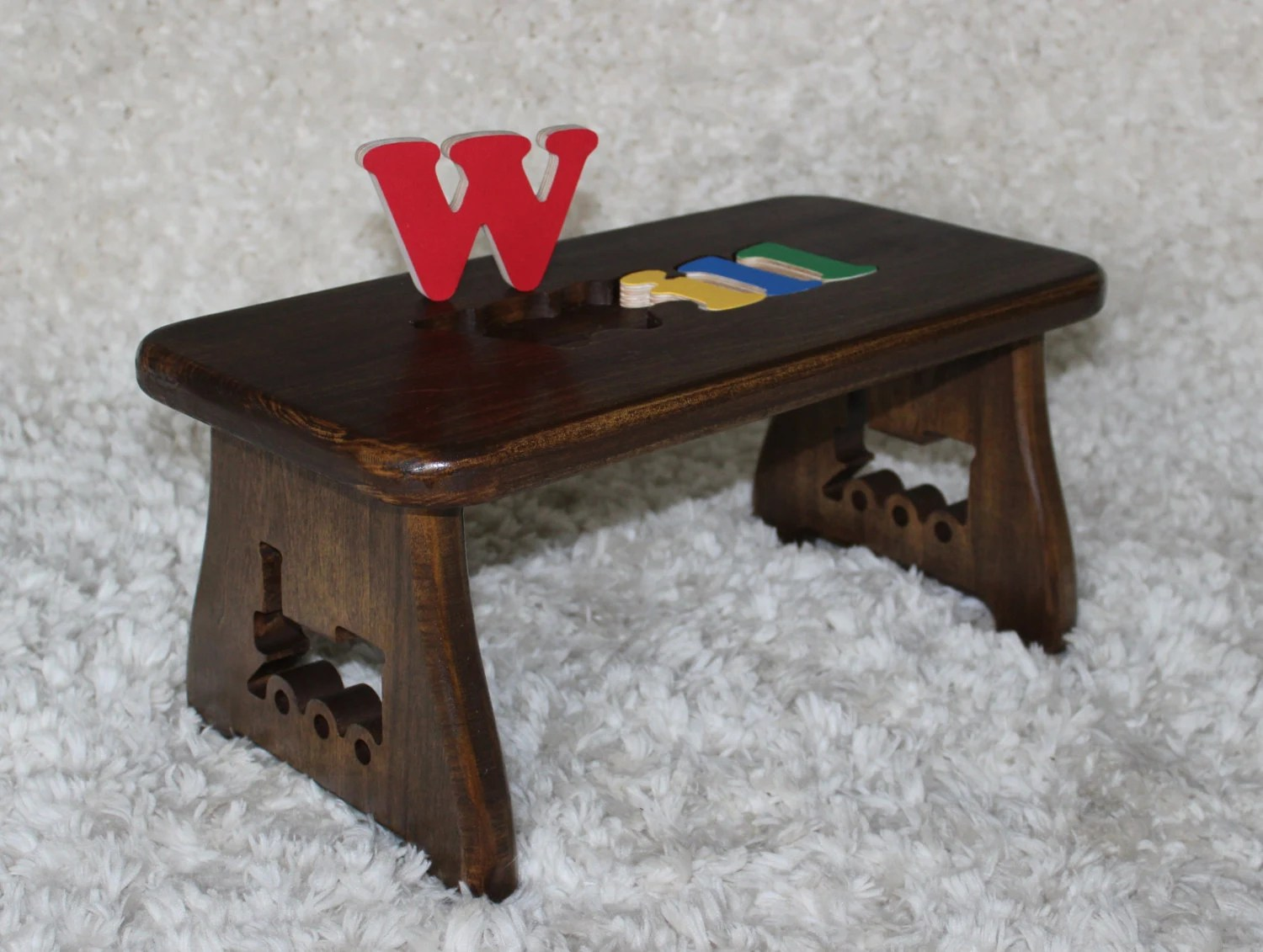 chair stool crossword cool chairs for kids name puzzle dark walnut finish step new baby