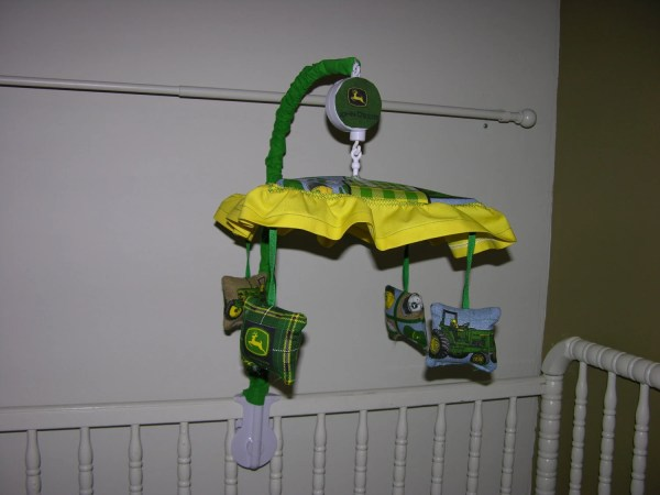 Umbrella Crib Mobile John Deere