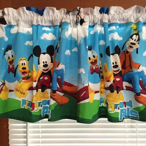 Mickey Mouse & Friends Curtain Window Valance Extra Wide