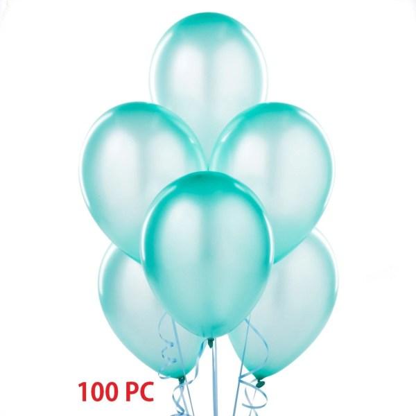 turquoise latex balloons 100