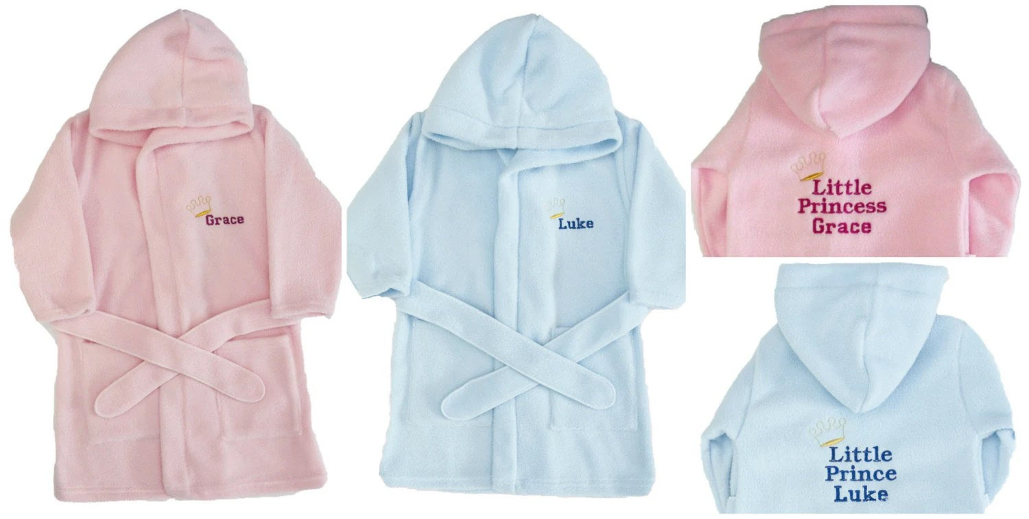 Personalised Dressing Gown Bath Robe New Baby Gift Birthday