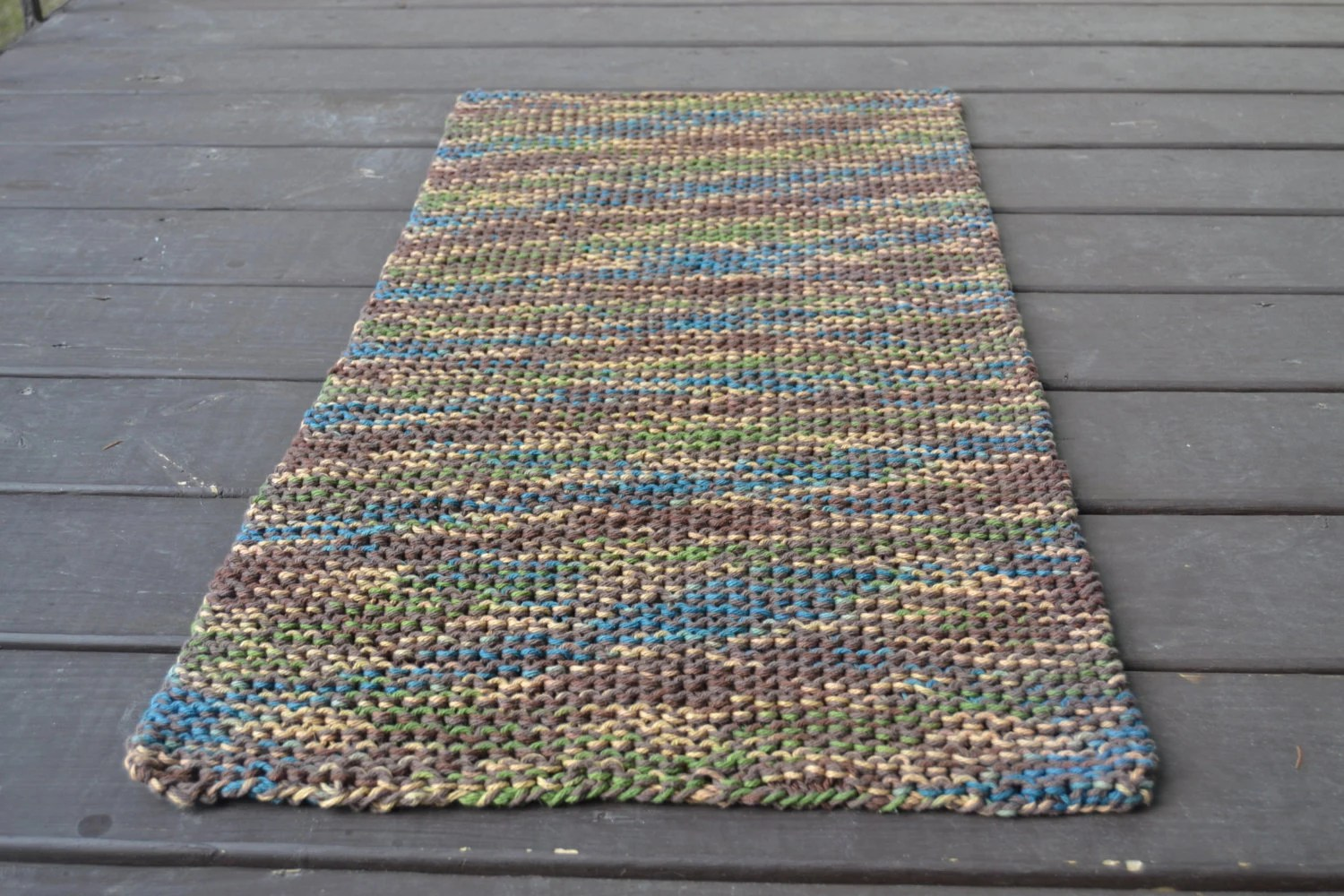 Bath Mat Machine Washable Kitchen Rug Knitted Rug Cotton