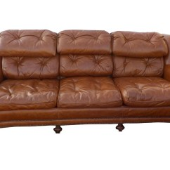 Brown Chesterfield Sofa High Quality Bed Uk Hollywood Regency Vintage Tufted Leather
