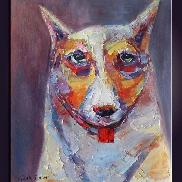 Abstract Art Animal Oil Painting Colorful Lovely Dog