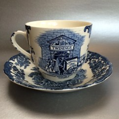 Oversized Saucer Chair Swing Seat Nz Pallisy Twinings Commemorative Cup And Spode Blue Coffee Mug | Haute Juice