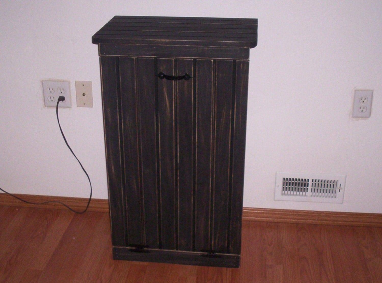 Large Trash Bin Cabinet Laundry Hamper Cabinet Recycling