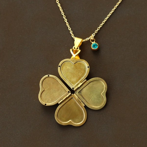 Mother' Day Vintage Heart Locket Necklaces Family