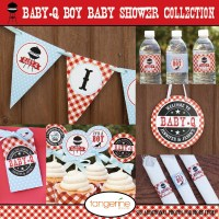 BBQ Baby Shower Decorations Package BabyQ by