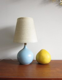 Blue Lotte Lamp Small Vintage Ceramic Bedside Light