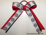 volleyball hair bow ribbon ponytail