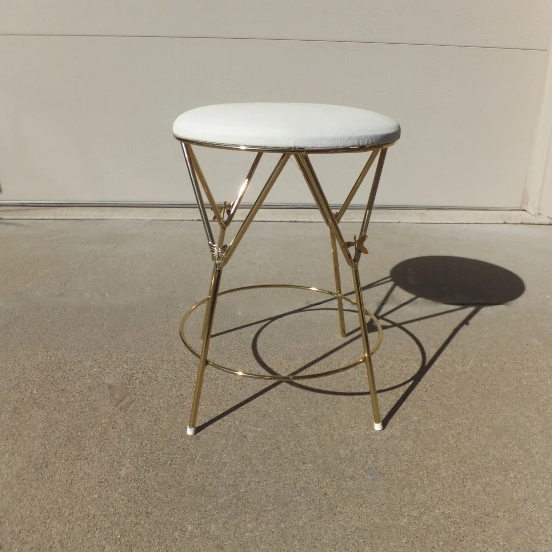 Modern Vanity Chair Vintage Vanity Stool Hollywood Regencyvanity Chair Gold