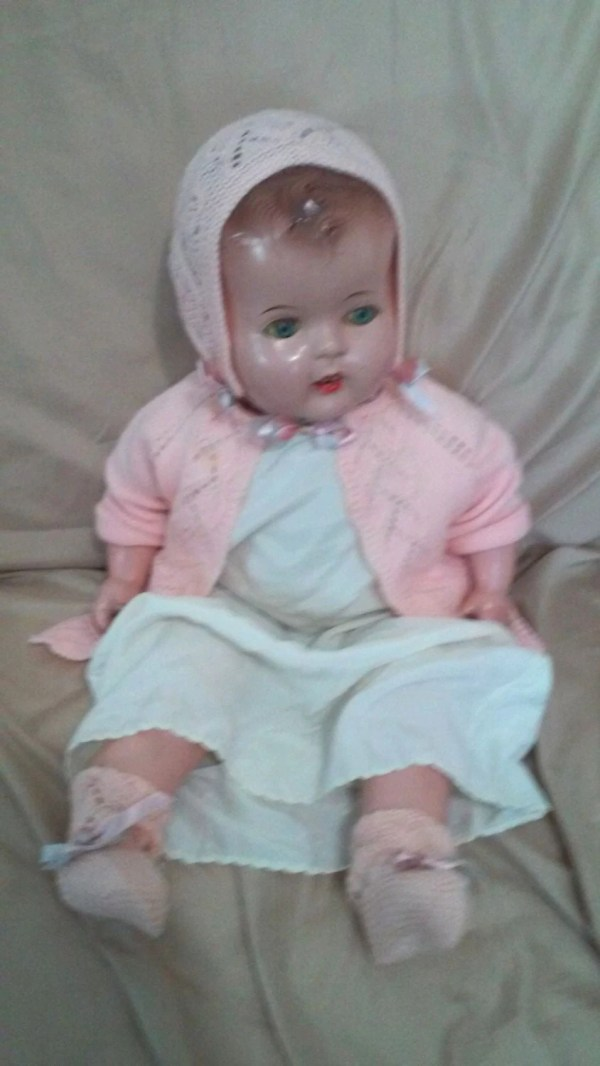 Life Size Haunted Baby 19 Open Mouth Composition Doll