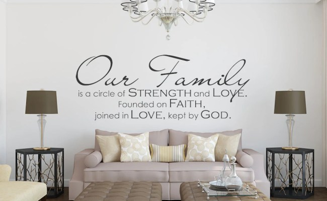 Family Wall Decal Our Family Family Quote Family Wall