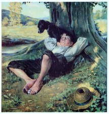 Norman Rockwell Barefoot Boy
