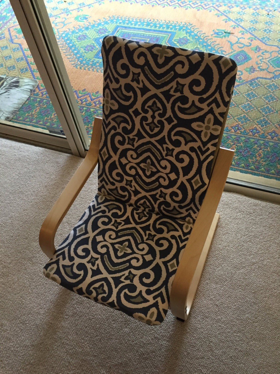 poang chair covers folding easy cloth kids cover by creativebabythreads on etsy