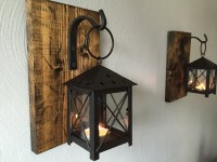 Rustic Candle Lantern Sconces - Wall Decor - Wall Sconce ...
