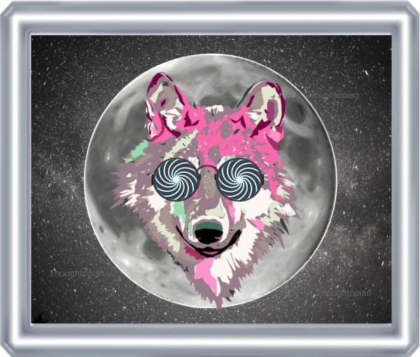 Psychedelic Wolf Moon Art Print 8 X 10 Visionary Pop