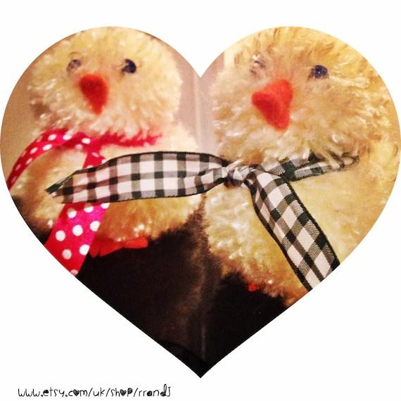 www.etsy.com/uk/shop/rrandj Easter pom pom chicks cystic fibrosis