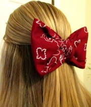 bandana bow hair