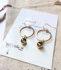 Mustard Seed Earrings / Mustard Seed Drop Earrings / Gold
