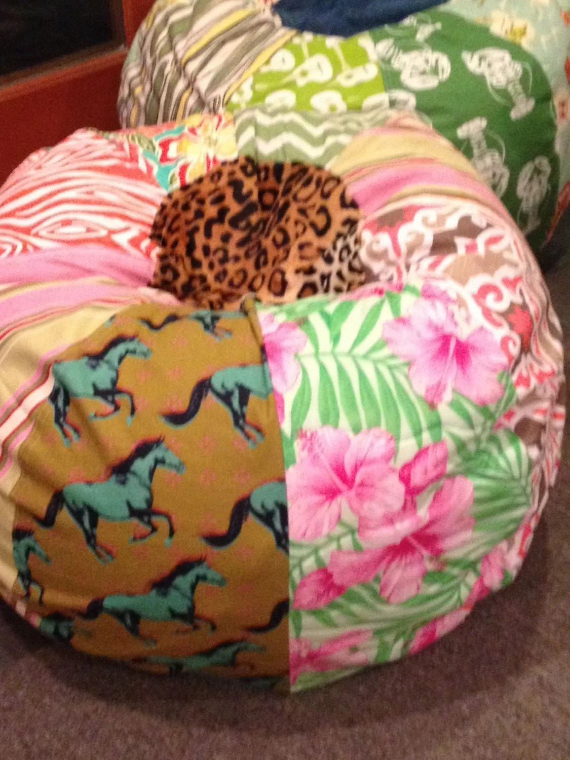zebra print bean bag chair pottery barn teen desk funky horse and floral patterns cowgirl with