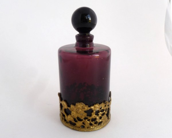 Purple Glass Perfume Bottle