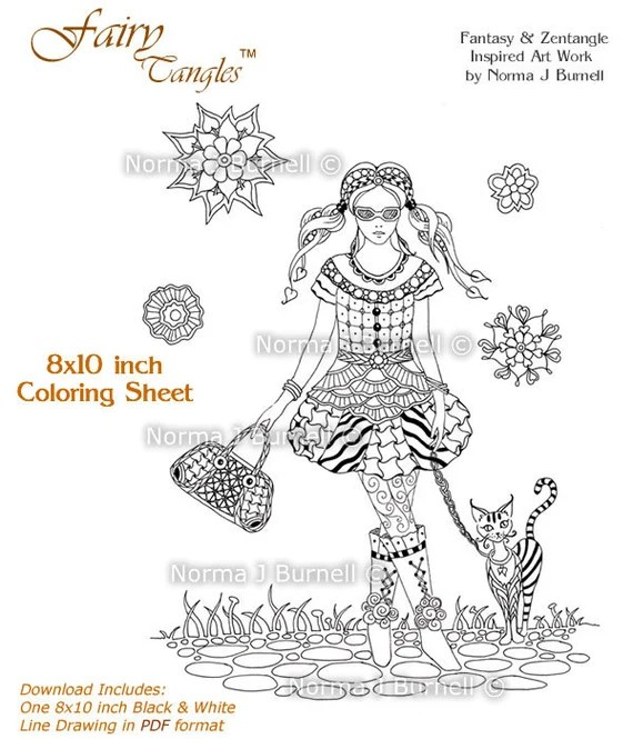 Fairy Tangle Art Coloring Books