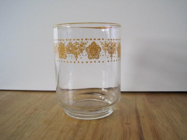 Vintage Corning Butterfly Gold 4 Oz Juice Glass