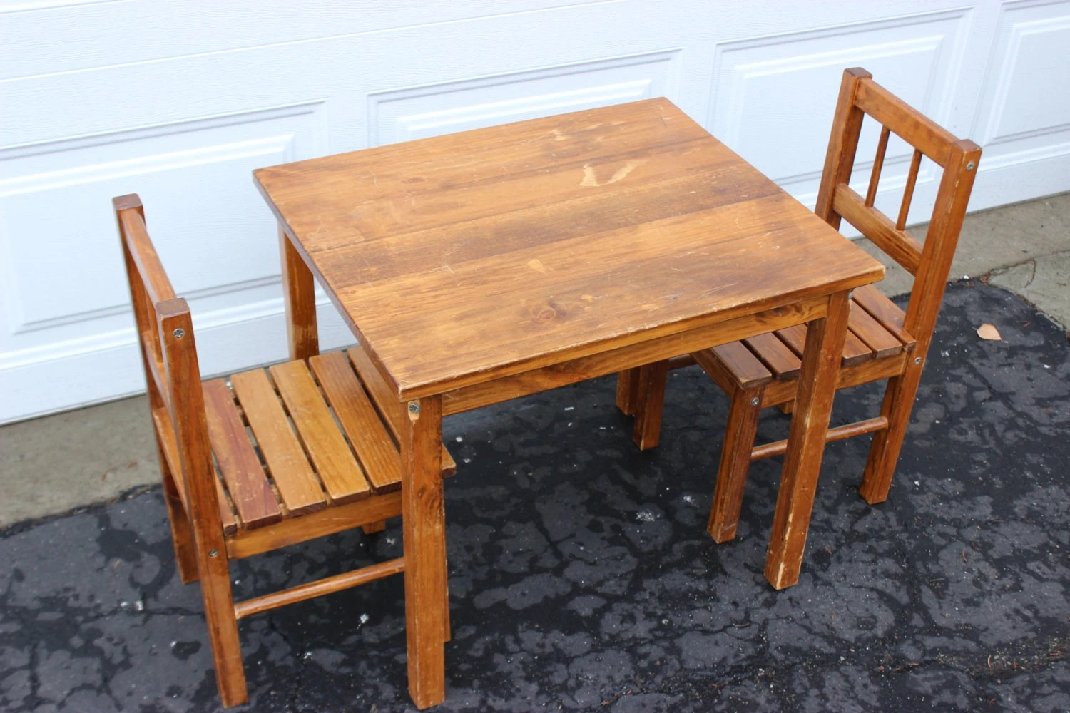 Wooden Kids Table And Chairs Vintage Wooden Small Childrens Table And Chairs