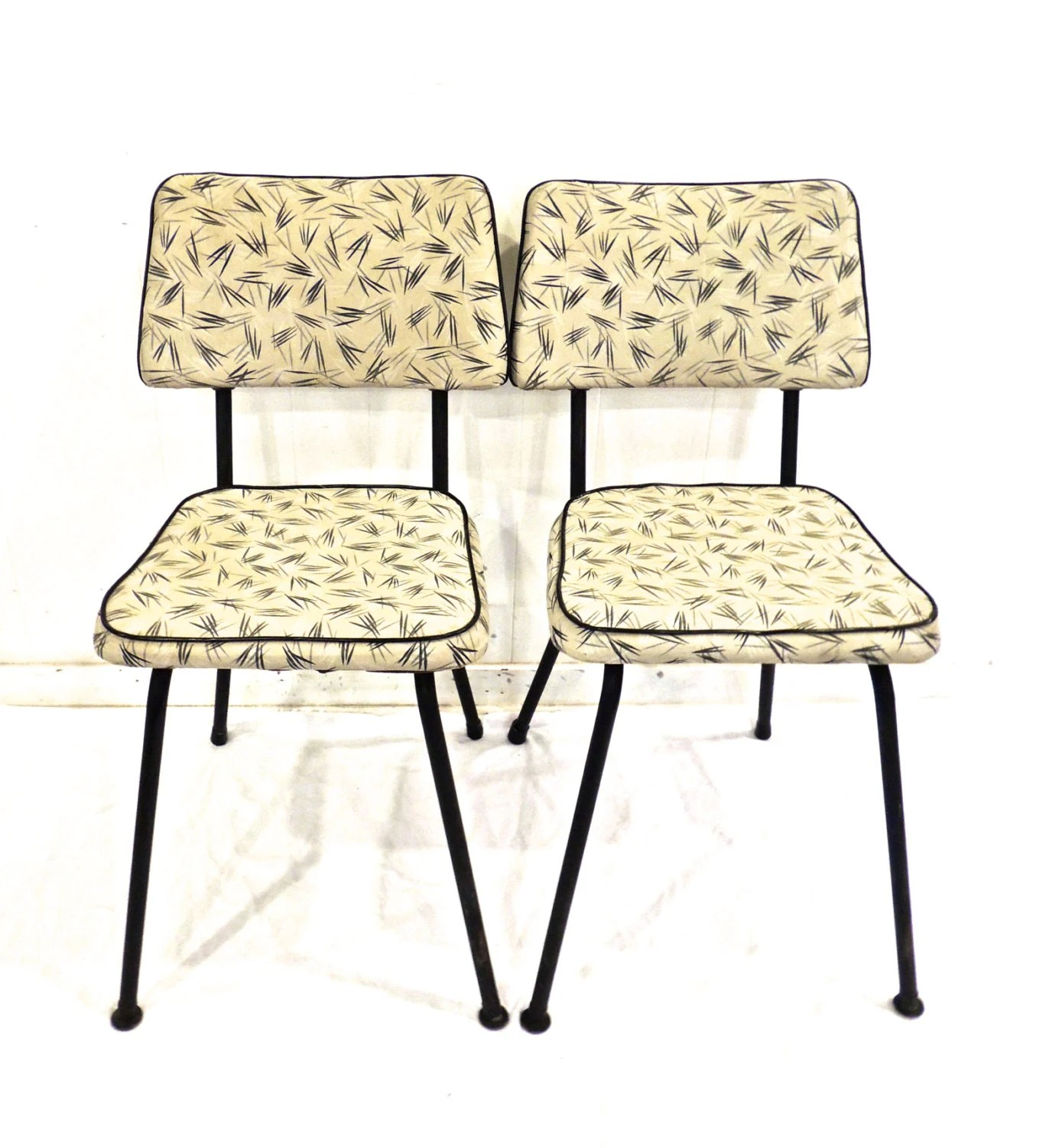 Retro Kitchen Chairs Vintage Kitchen Chairs 1950s 60s Mesco Mid Century Atomic