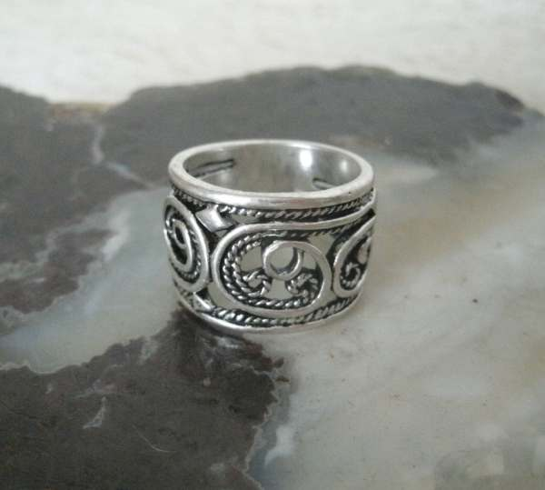 Celtic Spiral Ring Wiccan Jewelry Pagan Wicca