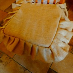 Burlap Chair Covers For Sale Infant Sitting Rusticpleated And Tucked Seat Cover Includes
