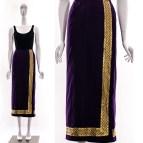 Metallic Gold Silk Skirt